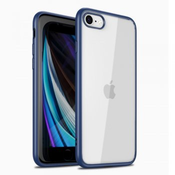 Apple iPhone 8 / 7 / SE (2020) 4'7 IPAKY Clear TPU Edges Combo Cover Case, Blue