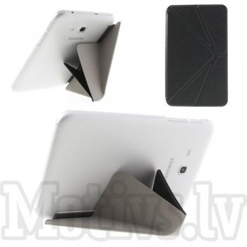 Samsung Galaxy Tab 3 7.0 Lite T110 T111 T113 Tab 3 V T116 Origami Leather Stand Cover Case, grey
