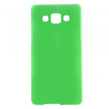 Samsung Galaxy A5 SM-A500F Duos Rubberized Hard Shell Bumper Case Cover, green - aksesuārs vāks bamperis