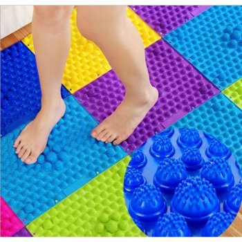 Correction Massage Foot Mat Rug for children and adults Reflexology, Yellow - 1pc.