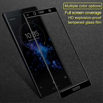 Imak 3D Curved Tempered Glass for Sony Xperia XZ2 Compact H8314 H8324, black - ekrāna aizsargstikls