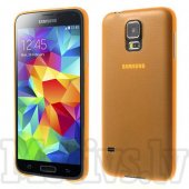 Samsung Galaxy S5 G900F Ultrathin 0.3mm Matte Plastic Case – Orange – aksesuārs vāks maks