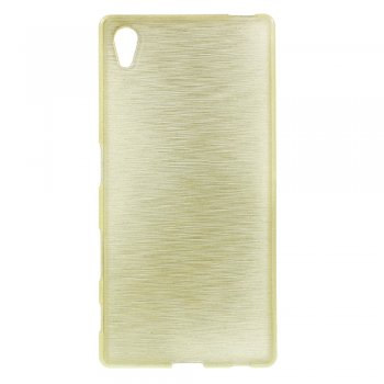 Sony Xperia Z5 (E6653) Glossy Outer Brushed Inner TPU Phone Case, gold