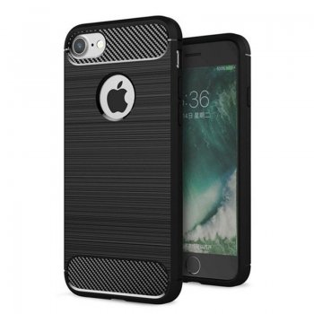"Apple iPhone 7 8 4.7"" silikona vāciņš Carbon, black (TPU Case Cover)"
