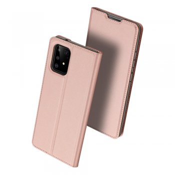Samsung Galaxy S10 Lite (SM-G770F) DUX DUCIS Skin Pro Series PU Leather Wallet Case Cover, Rose Gold | Vāciņš maciņš apvalks