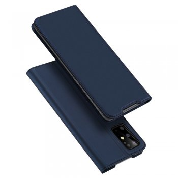 Samsung Galaxy S20+ Plus DUX DUCIS Leather Case - Blue / Синий