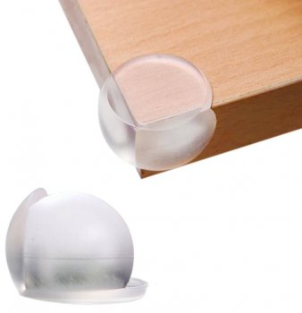 Child Baby Safety Round Silicone Protector Table Corner, 4 pcs.