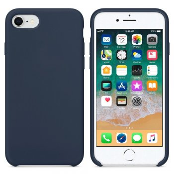 "Apple iPhone 7 / 8 / SE (2020) 4.7"" Silicone Soft Flexibe Cover, Dark Blue"