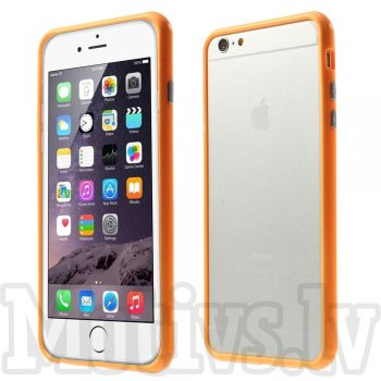 "Apple iPhone 6 Plus 6S Plus 7 8 Plus 5.5"" Stylish Plastic & TPU Hybrid Bumper Case, orange – vāks bamperis"