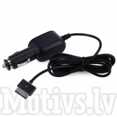 40-pin 15V Car Charger Cable for Asus Eee Pad Transformer TF101 TF201 TF300T TF700T SL101, black - auto lādētājs