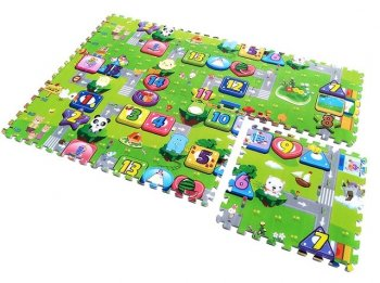 "Kids Foam Floor Puzzle Mat ""Traffic Code Law Numbers"", 4 elements"