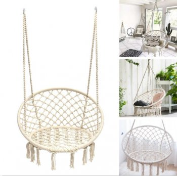 Garden Home Hammock Chair Swing from Braided Rope