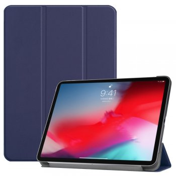 "Apple iPad Pro 11.0"" (2018) Tri-fold Stand Smart Leather Case Cover, blue"