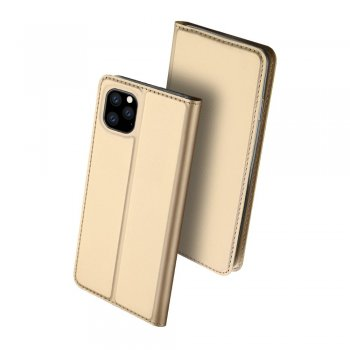 Apple iPhone 11 Pro DUX DUCIS Leather Case - Gold