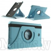 Samsung Galaxy Tab 4 7.0 T230 T231 T235 Rotary Stand Leather Case Cover, light blue - vāks apvalks pārvalks maks