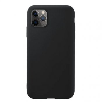 Apple iPhone 11 Pro Soft Flexible Silicone Cover Case, Black | Telefona maciņš vāciņš