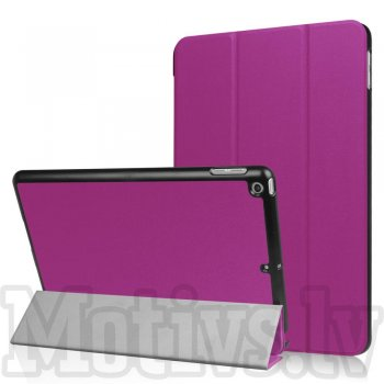"Apple iPad 9.7"" (2017 2018) Tri-fold Stand Smart Leather Case Cover, purple"