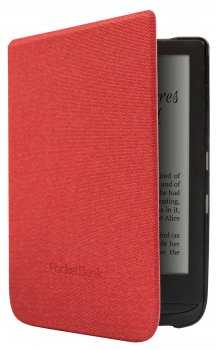 Pocketbook Touch Lux 4 627 / Basic Lux 2 616 / Touch HD 3 632 Original Case Cover - red, e-grāmatas vāciņš