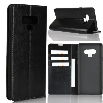 Samsung Galaxy Note 9 SM-N960F Genuine Leather Wallet Case Cover - Black | Vāciņš maciņš apvalks