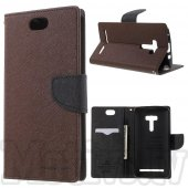 Asus Zenfone Selfie ZD551KL Mercury Goospery Fancy Diary Case Leather Cover, brown – vāks maks