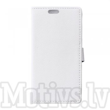 "Asus Zenfone 2 Laser 5.5"" ZE550KL ZE551KL Litchi Leather Wallet Book Case Magnetic Cover Stand, white"