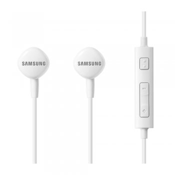 Austiņas Samsung HS130 ar Mikrofonu, Baltas | Headset Earphones with Smart Remote Control