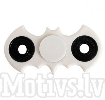 Fidget Spinner Bat White