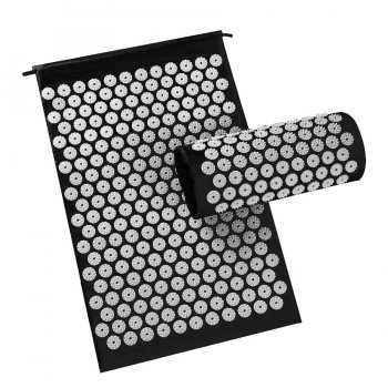 Acupressure Massage Mat + pillow (65x 40cm, Black)