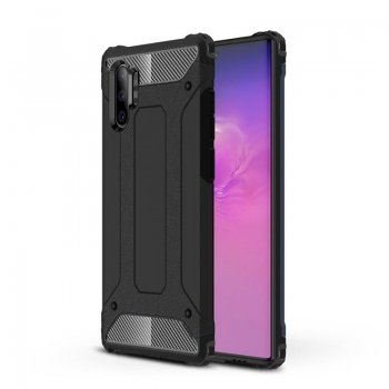 Samsung Galaxy Note 10 Plus (SM-N975F) Hybrid Armor Rugged Case Cover, Black