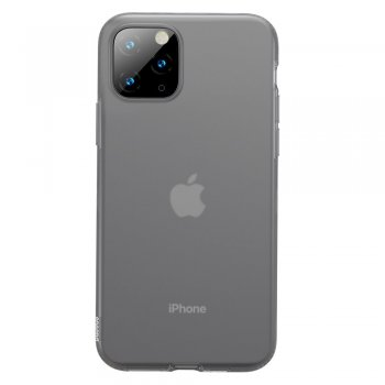 iPhone 11 Pro Baseus Jelly Case, Gray | Telefona Vāciņš Maciņš Apvalks
