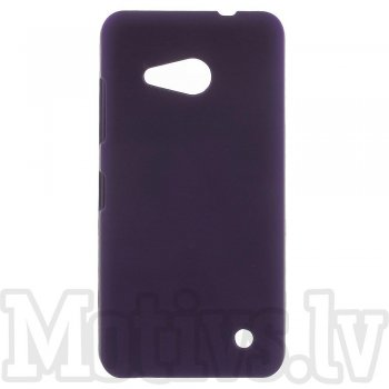 Microsoft Lumia 550 Rubberized Hard Plastic Bumper Case Cover, purple - vāks bamperis