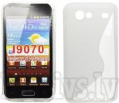 Samsung Galaxy S Advance i9070 TPU S-Line Case Cover Shell, transparent - puscietais aizsargvāciņš