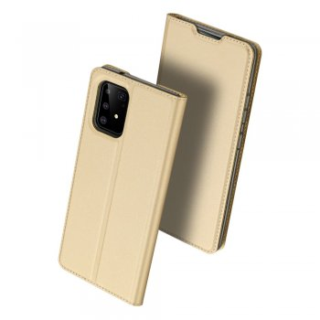 Samsung Galaxy S10 Lite (SM-G770F) DUX DUCIS Skin Pro Series PU Leather Wallet Case Cover, Gold | Vāciņš maciņš apvalks