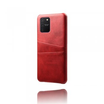 Samsung Galaxy S10 Lite (SM-G770F) PU Leather Coated Hard PC Case Cover - Red | Vāks bamperis