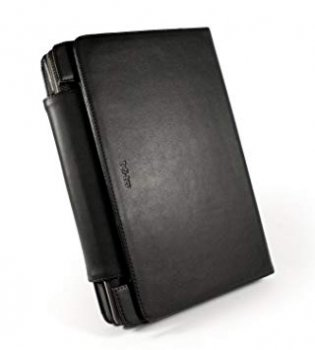 Tuff-luv Genuine Leather Book-Style case & stand for Asus Transformer Prime TF201 Tablet - Black