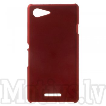 Sony Xperia E3 D2202 D2203 D2206 D2243 Dual D2212 Rubberized Hard Shell Bumper Case Cover, red - aksesuārs vāks bamperis