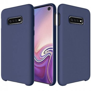 Samsung Galaxy S10e (G970F) Soft Flexible Silicone Cover Case, Dark blue | Telefona maciņš vāciņš