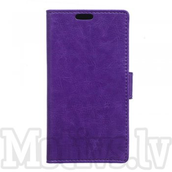 Sony Xperia X F5121 Dual F5122 Crazy Horse Leather Wallet Cover - purple