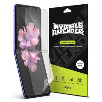 Samsung Galaxy Z Flip Ringke Invisible Defender 2x Full TPU Coverage Screen Protector ( Case Frendly ) | Aizsargplēve Telefonam