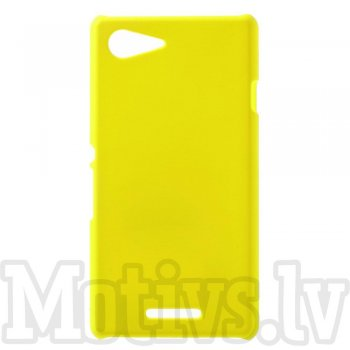Sony Xperia E3 D2202 D2203 D2206 D2243 Dual D2212 Rubberized Hard Shell Bumper Case Cover, yellow - aksesuārs vāks bamperis