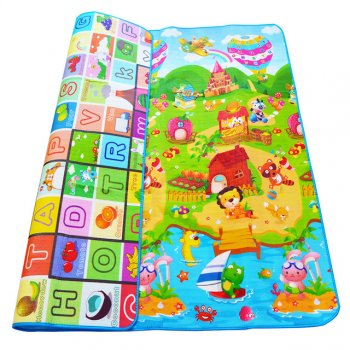 Double-sided foam play carpet for children 200x180cm
