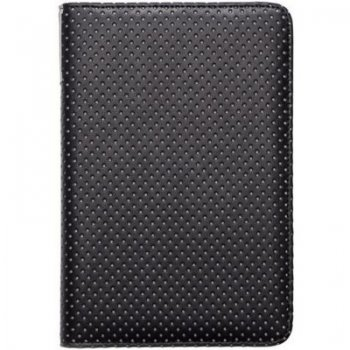 "Pocketbook 6"" Touch Lux 3 614, 615, 624, 625, 626, 631, 641 original case cover, black dot - melns vāks"