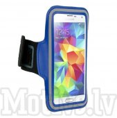 "Sport Armband Case for Phone up to 5.1"" Size M (iPhone 6s 7 8, Samsung S7 S8), blue - universālais sporta maks"