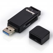 Hama USB 3.0 Multi Card Reader SD/microSD Alu black 123901