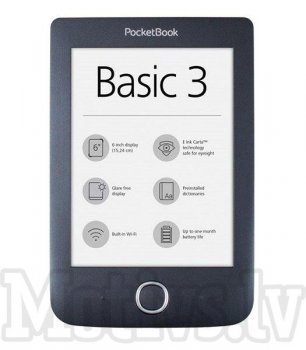 Pocketbook 614W Basic 3 E-book Reader - Black