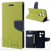 LG Google Nexus 5X H791 Mercury Fancy Diary Wallet Stand Case Cover, blue/green – aksesuārs vāks maks