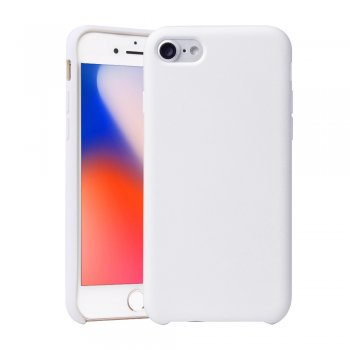 "Apple iPhone 8 / 7 / SE (2020) 4.7"" Rubberized Silky Soft Case Cover, White"