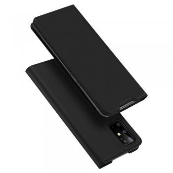 Samsung Galaxy S20+ Plus DUX DUCIS Leather Case - Black / Чёрный