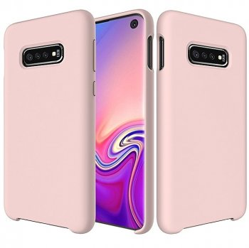 Samsung Galaxy S10 (G973F) Soft Flexible Silicone Cover Case, Pink