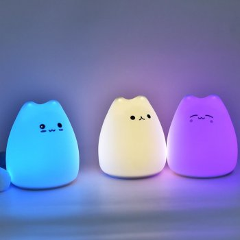 "LED Night Lamp ""Cat"" - Mix Colors"